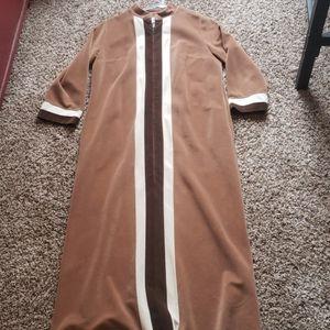 Brown vintage vanity fair robe